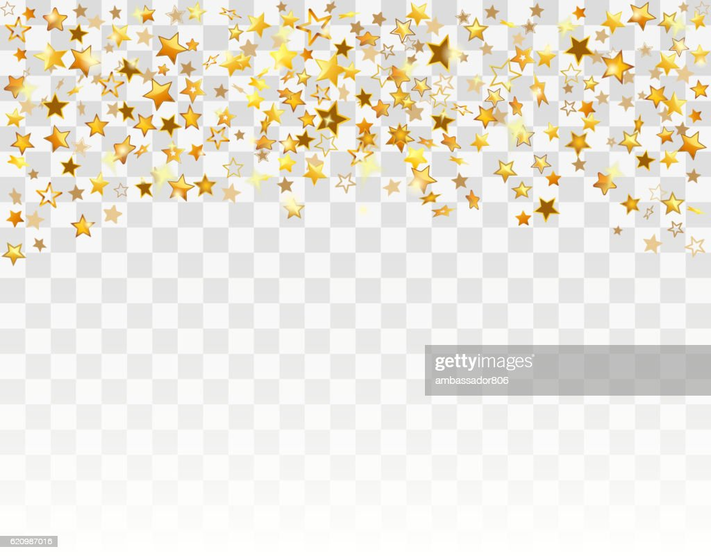 Gold stars Holiday background