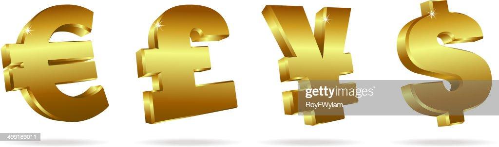 Gold Symbols for Money