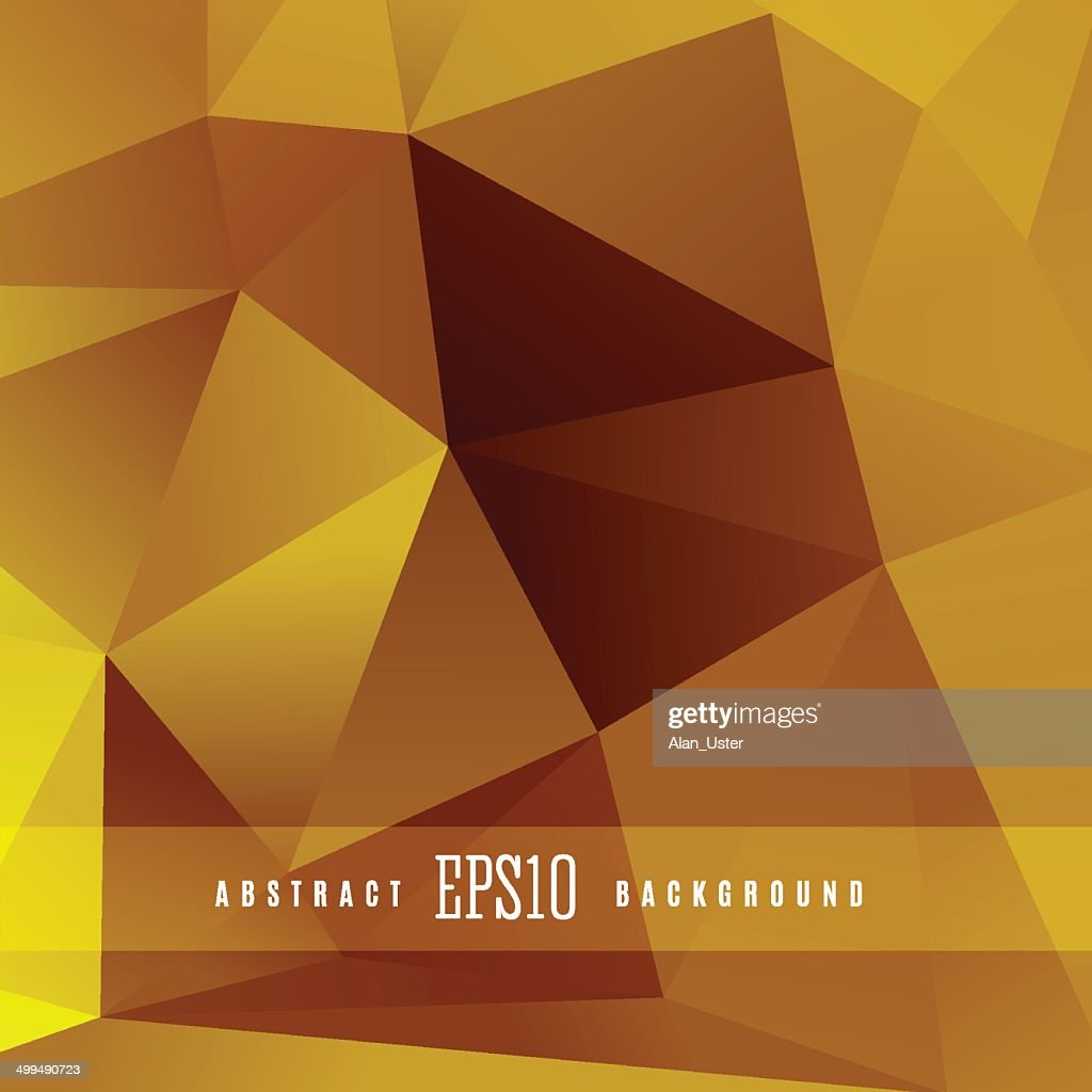 Gold triangle vector geometric colorful background