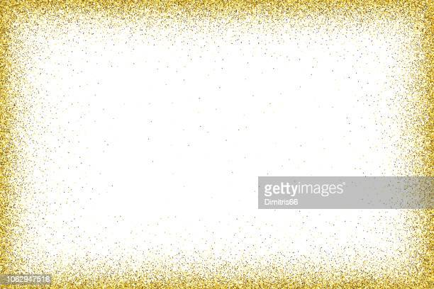 gold vector glitter frame - gold coloured stock illustrations