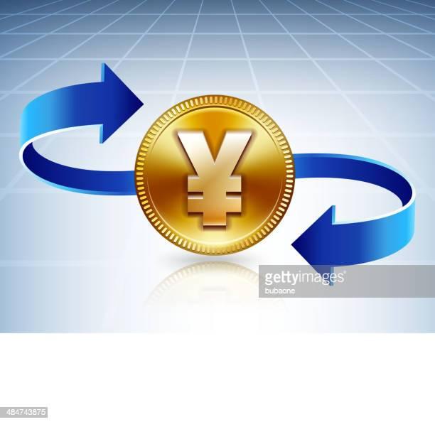 ilustrações, clipart, desenhos animados e ícones de gold ienes câmbio - reforma assunto