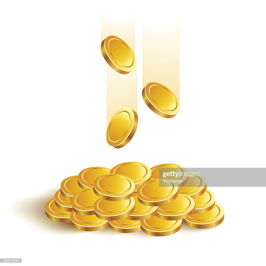 GoldCoinsVectorEps