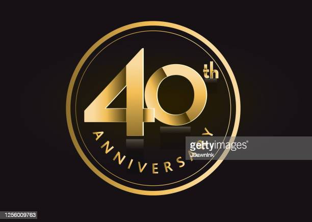 ゴールデン40周年記念ラベルデザイン - 40周年点のイラスト素材/クリップアート素材/マンガ素材/アイコン素材