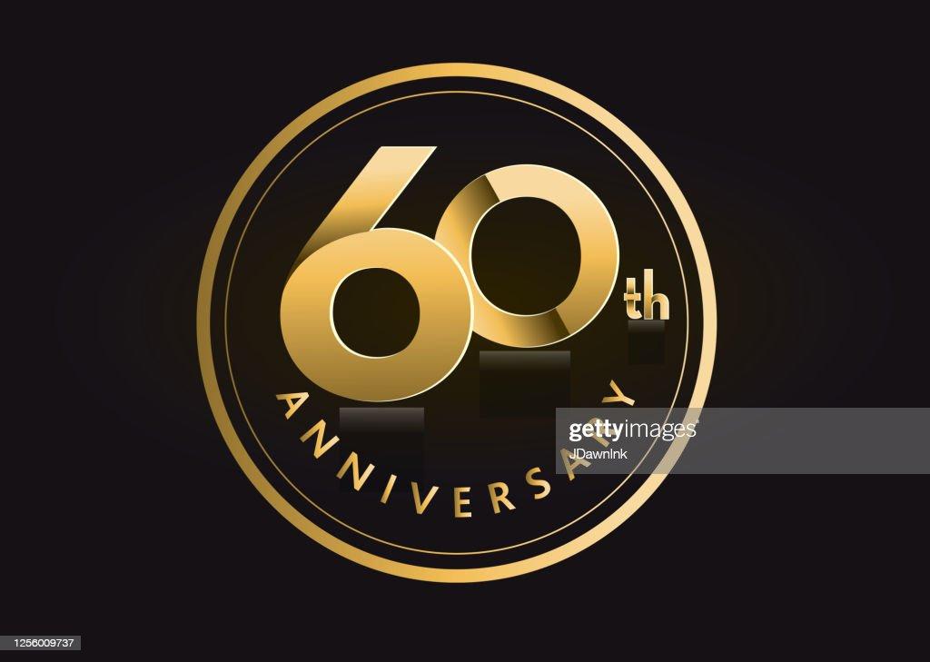 ゴールデン60周年記念ラベルデザイン : ストックイラストレーション