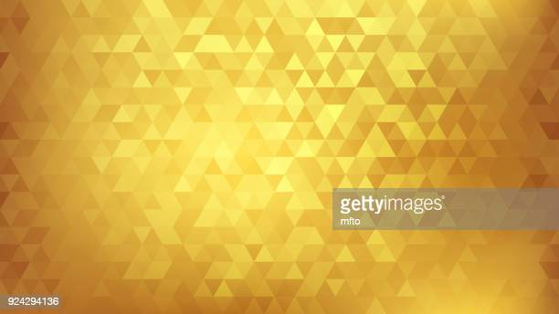 golden abstract background - triangle shape stock illustrations