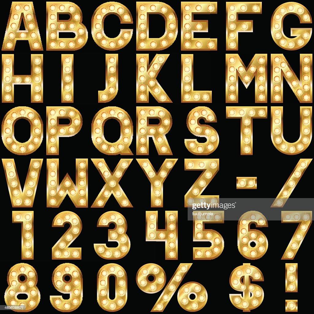 Golden alphabet