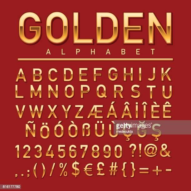 ゴールドのアルファベット