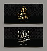 Golden and platinum VIP invitation template
