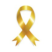 Golden awareness ribbon