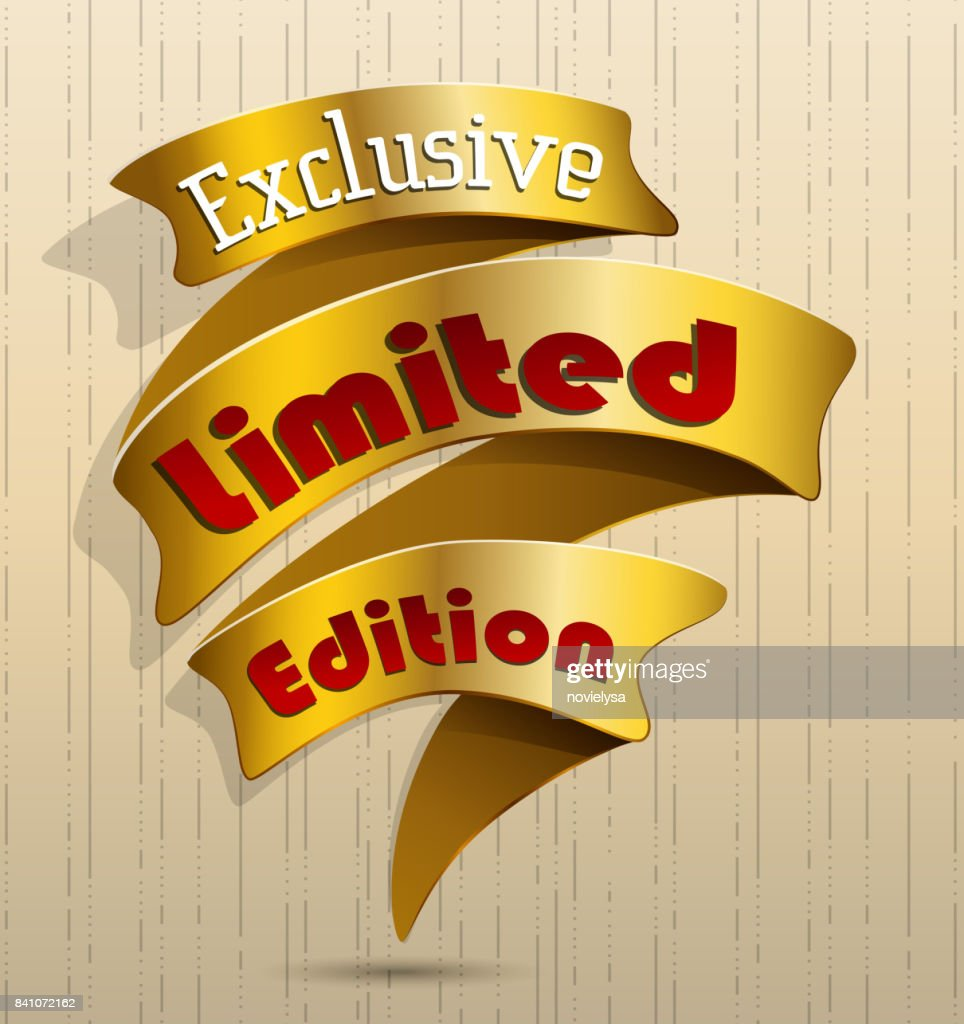 Golden banner exclusive limited edition