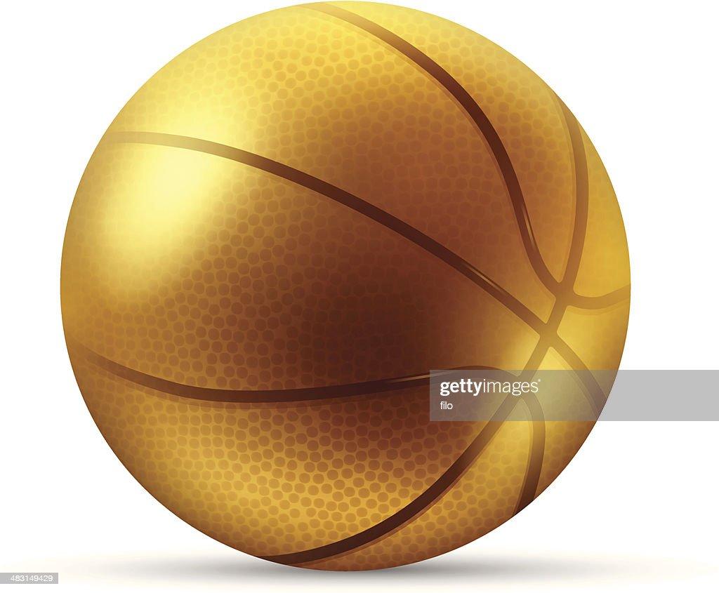 Golden Basketball Vector Art Getty Images