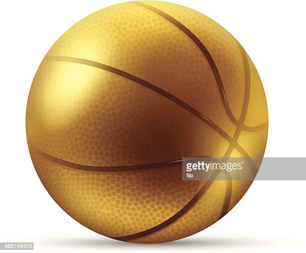 golden basketball - basketball competition stock illustrations