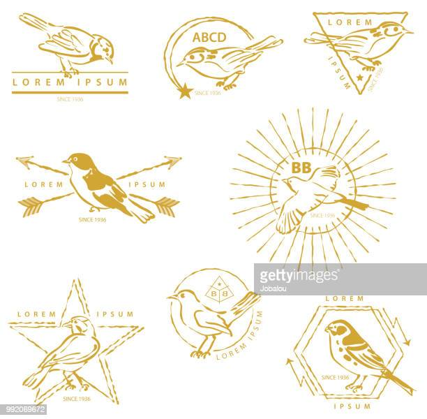 Golden Birds Labels
