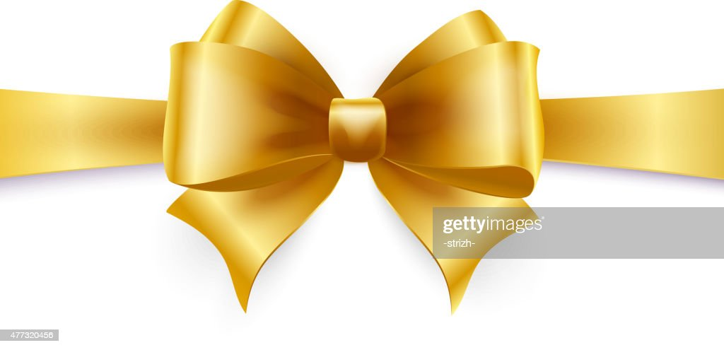 Golden bow. Vector illustration