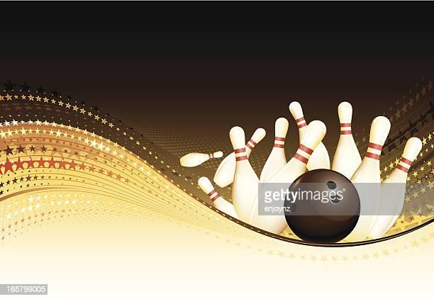 Golden bowling background