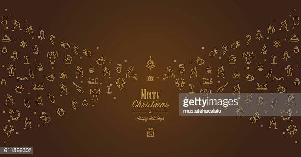 Golden brown christmas card