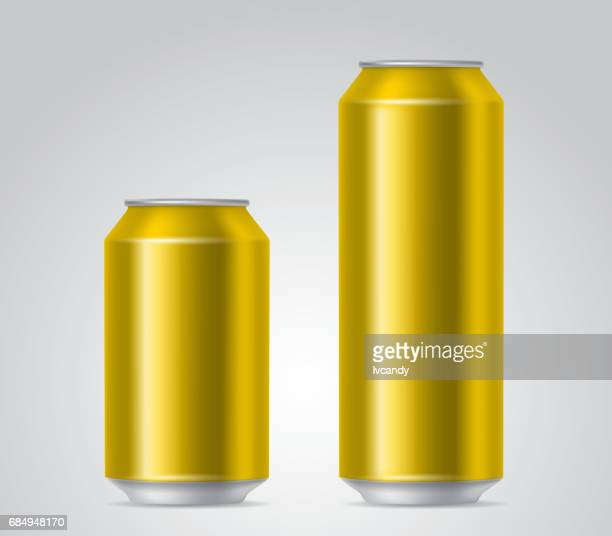 golden cans - drink can stock illustrations, clip art, cartoons, & icons