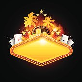 Golden casino sign illustration