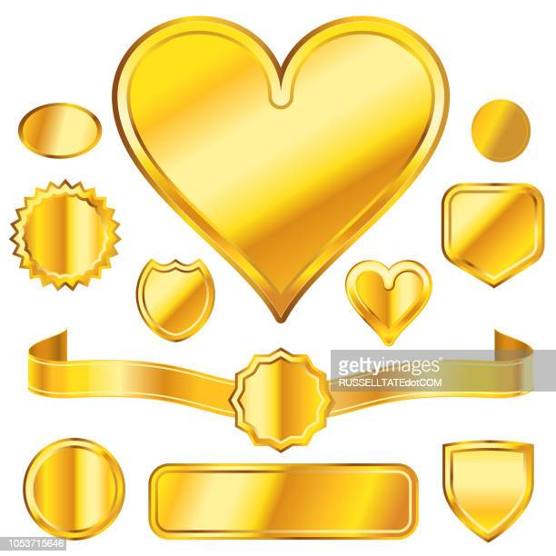 golden charms - good luck charm stock illustrations
