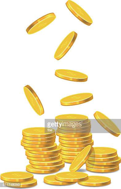 golden coins - change stock illustrations