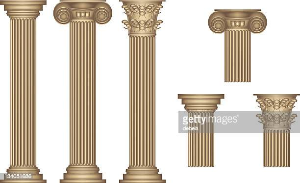 stockillustraties, clipart, cartoons en iconen met golden columns - classical greek style