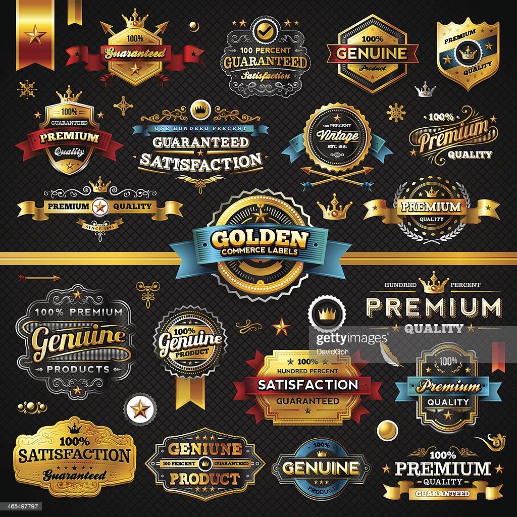 Golden Commerce Labels - Megaset (Dark)