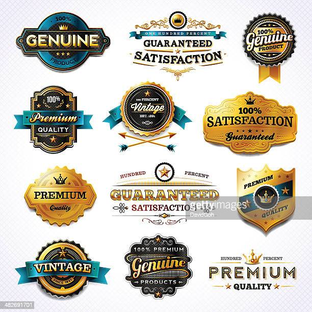 Golden Commerce Labels - Set 1