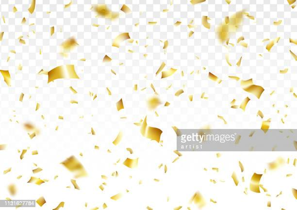 golden confetti background - gold coloured stock illustrations