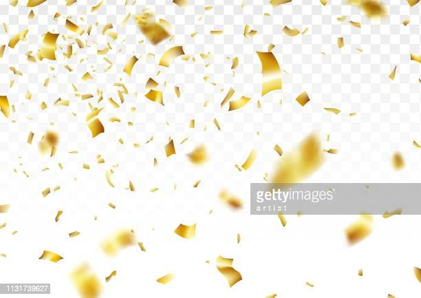 golden confetti background - tinsel stock illustrations