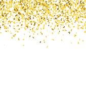 Golden confetti background.