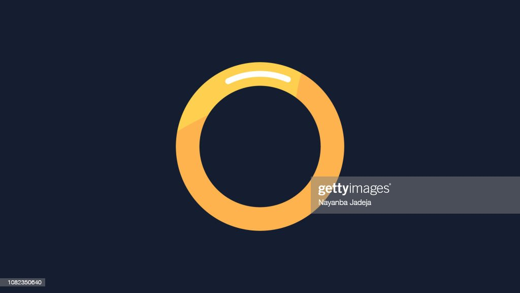 Golden core ring icon