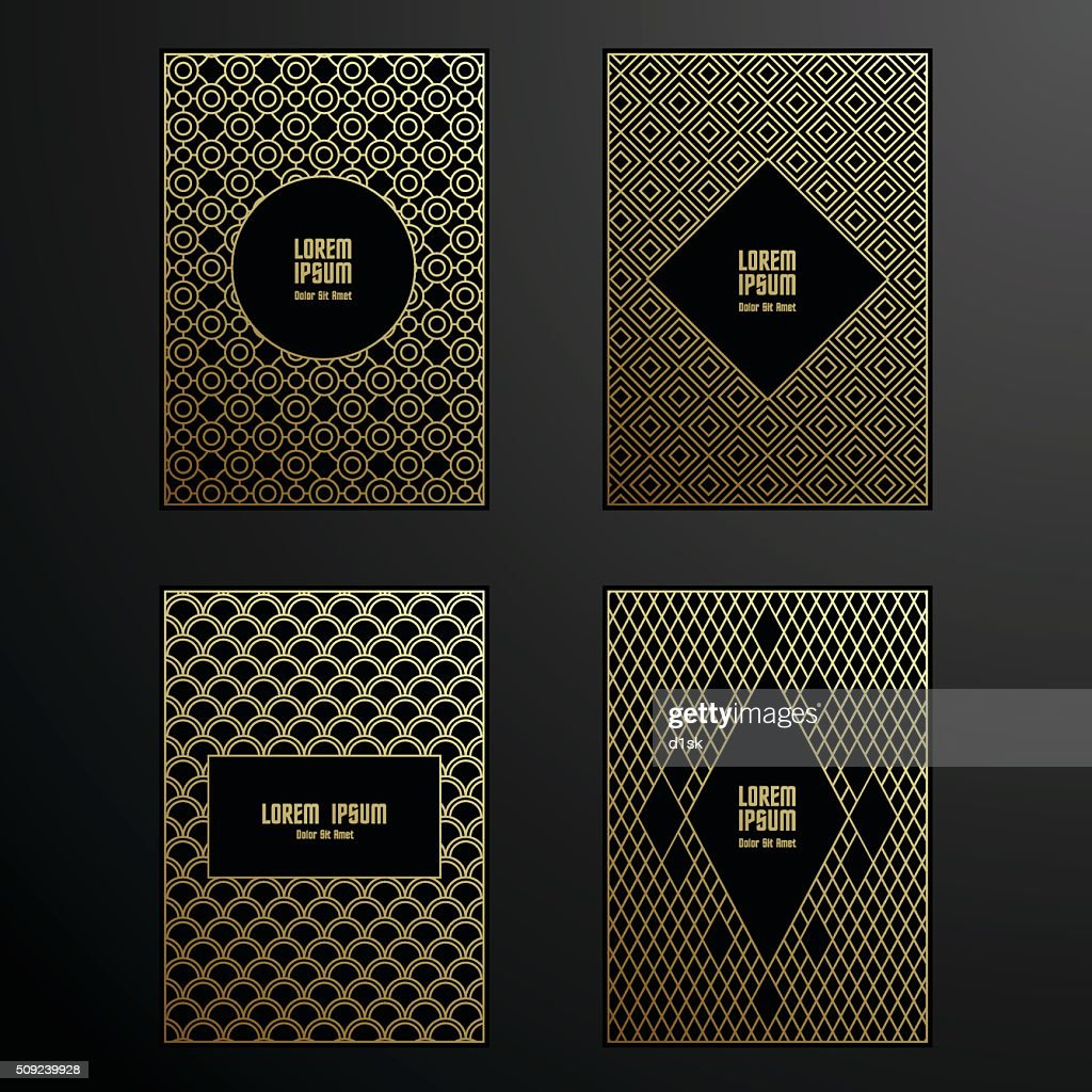 Golden covers template set