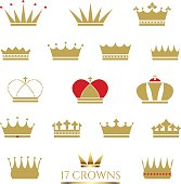 Golden Crown icon set