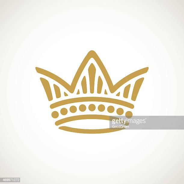 golden crown - crown stock illustrations