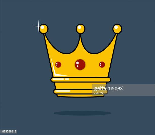 golden crown vector illustration - queen royal person stock illustrations, clip art, cartoons, & icons