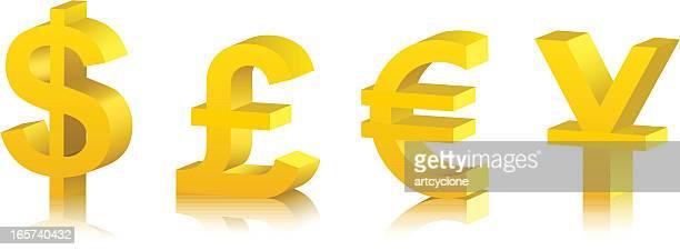 ilustrações de stock, clip art, desenhos animados e ícones de moeda de ouro - unidade monetária da união europeia