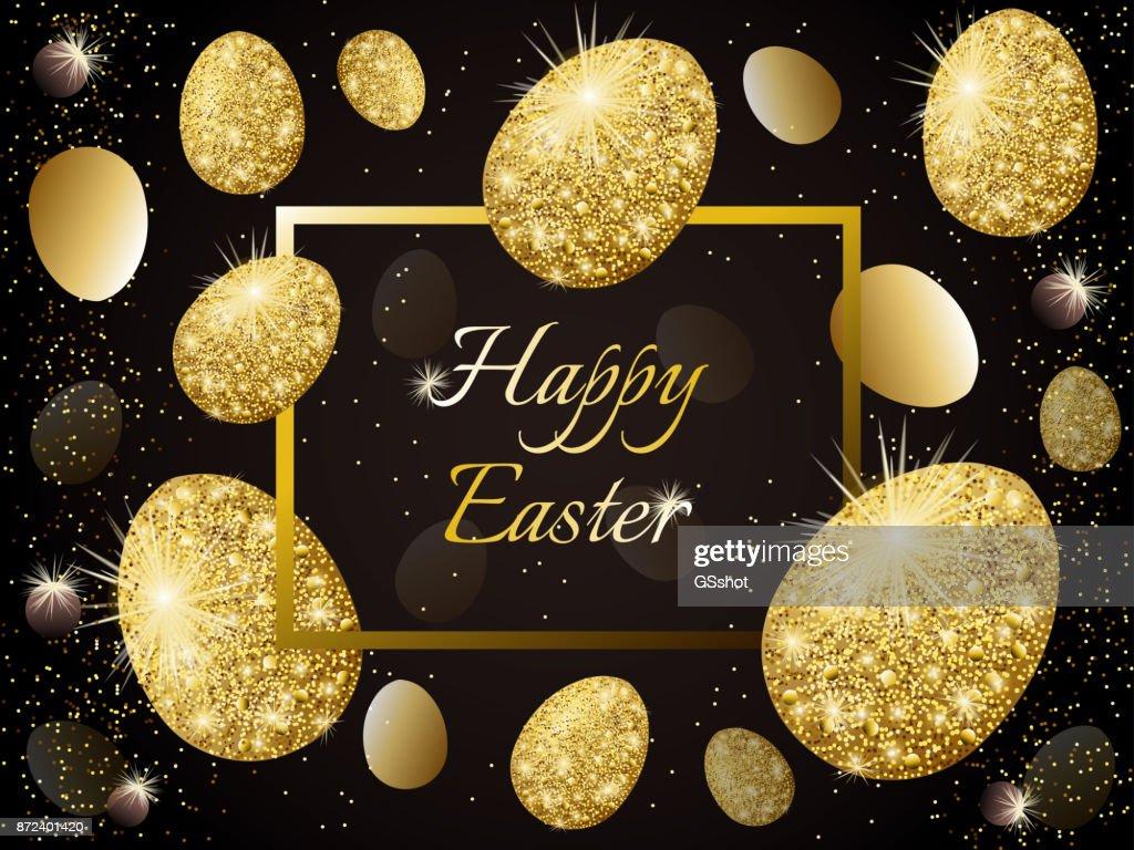 golden decorated eggs.