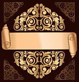 Golden decorative design