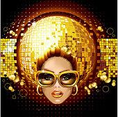 Golden disco