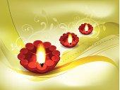 Golden Diwali Background