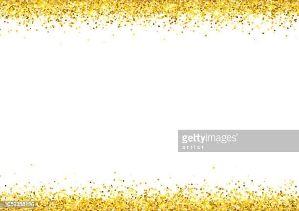 ilustraciones, imágenes clip art, dibujos animados e iconos de stock de polvo de oro. fondo de brillo. - glamour