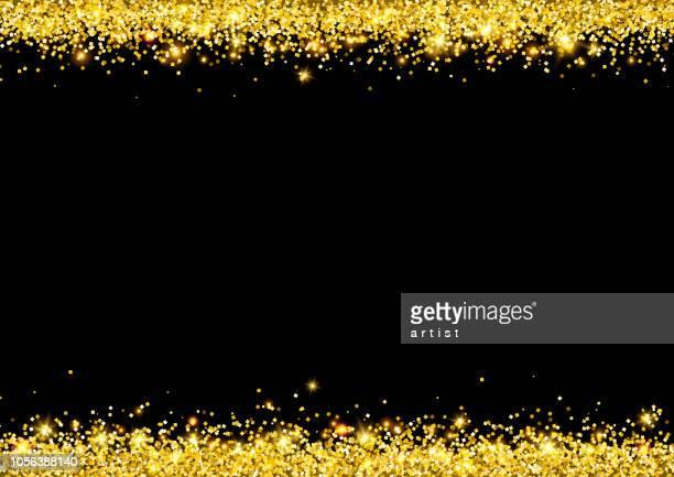 goldenen staub. glitter-hintergrund. - staub stock-grafiken, -clipart, -cartoons und -symbole