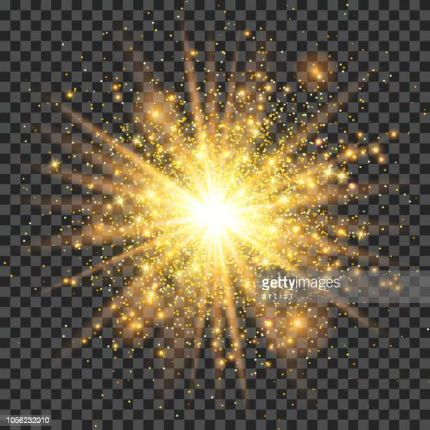 golden dust - sparks stock illustrations, clip art, cartoons, & icons