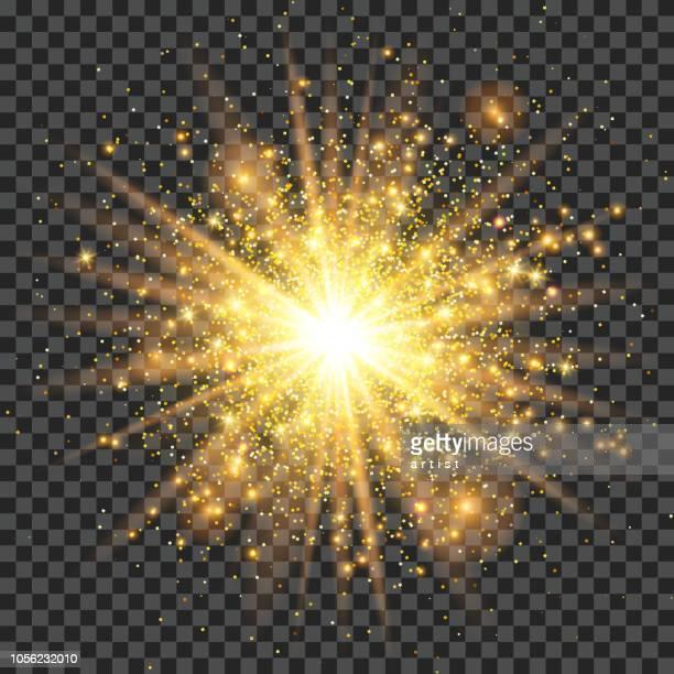 golden dust - sparks stock illustrations