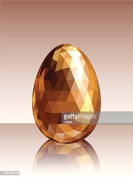 golden egg - easter egg stock illustrations, clip art, cartoons, & icons