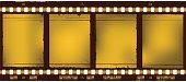golden film strip