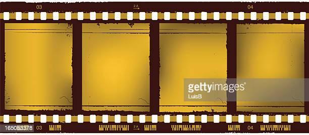 ilustrações de stock, clip art, desenhos animados e ícones de golden tira de filme - maquina fotografica antiga