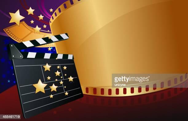 ilustraciones, imágenes clip art, dibujos animados e iconos de stock de golden de películas - rollo de cine