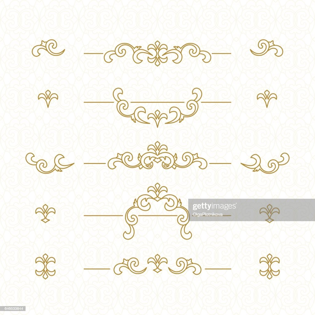 Golden floral borders.