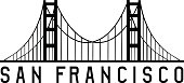 golden gate bridge in san francisco vector design illustration